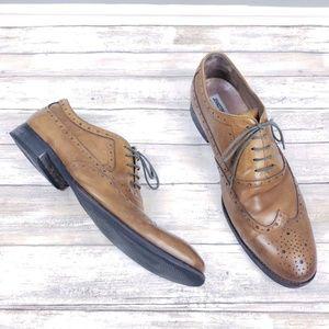 Johnston & Murphy Tyndall Wingtip Shoes Size 12